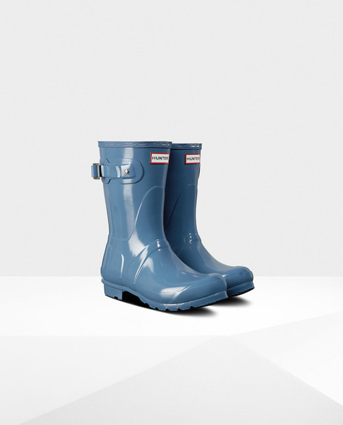 HUNTER BOOTS Womens Original Short - Glossy