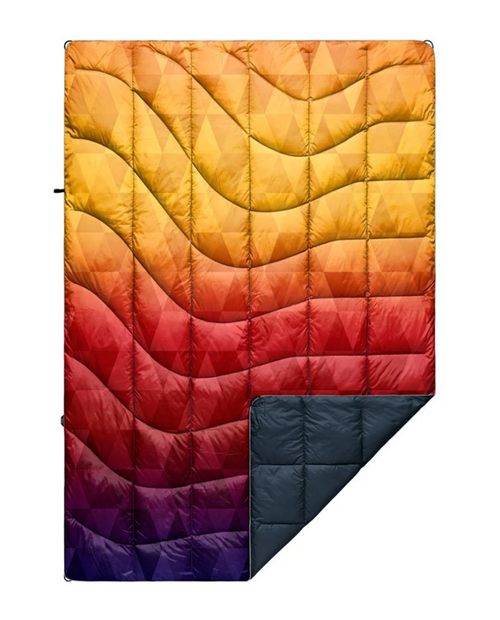 Rumpl Printed Down Blanket - Pyro Tri Fade