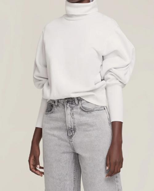 Womens Extended Rib Sweatshirt