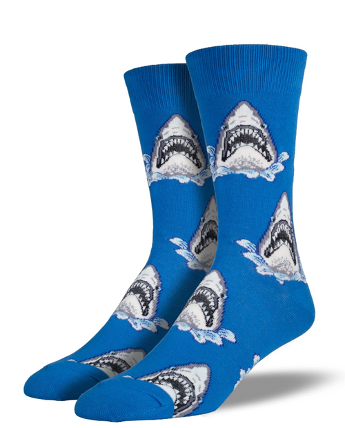 SOCKSMITH Mens Shark Attack Socks