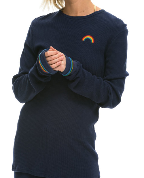 Womens Rainbow Emroidery Prism Thermal T