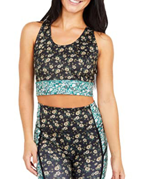 Womens Printed Synergy Crop