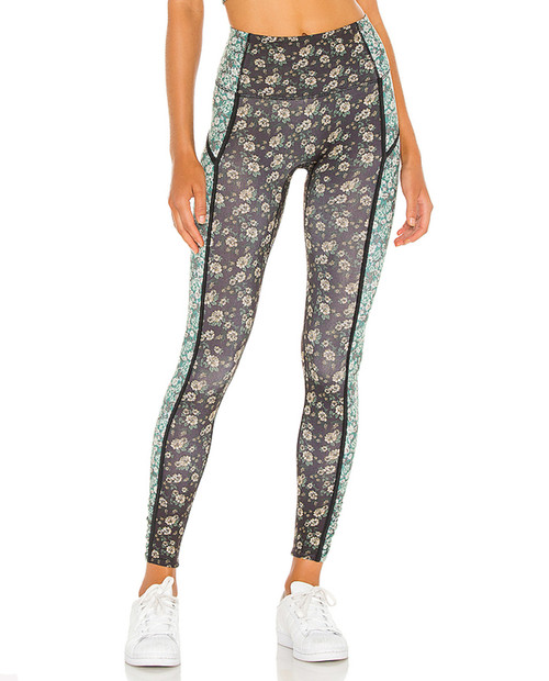 FREE PEOPLE MOVEMENT Womens Printed You're a Peach Leggings