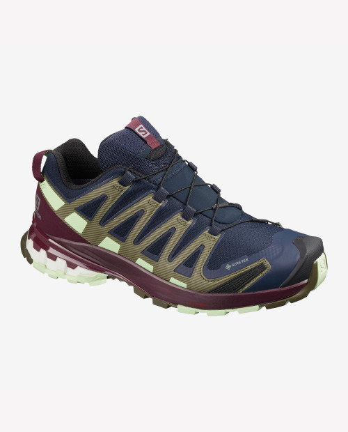 SALOMON USA Womens Xa Pro 3D v8 GTX in NAVYBLAZER/PATINAGRN
