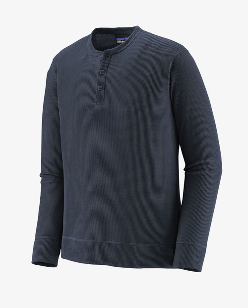 Mens L/S Waffle Knit Henley