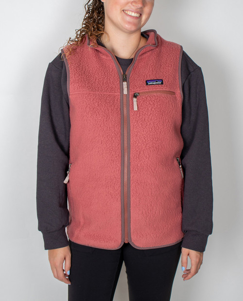 Womens Retro Pile Vest