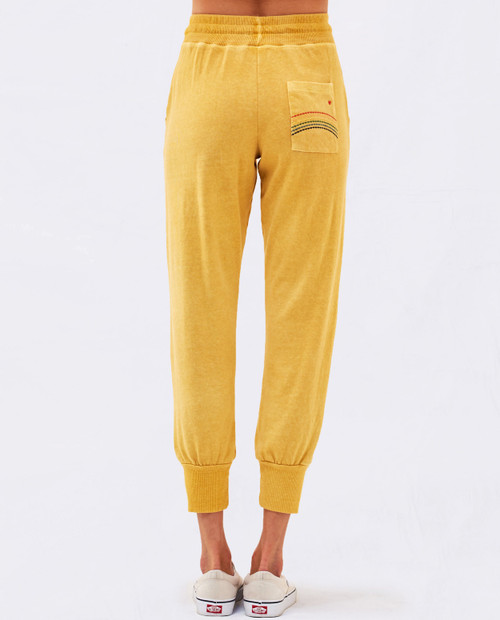 Sweatpant with Stitching in Canary