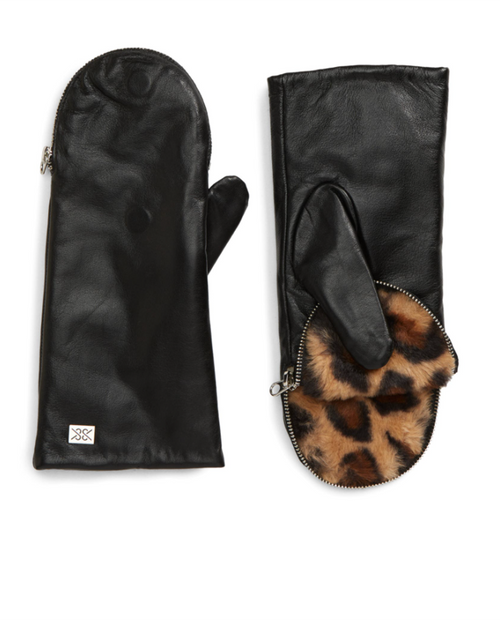 SOIA AND KYO Womens Betrice Leather Gloves