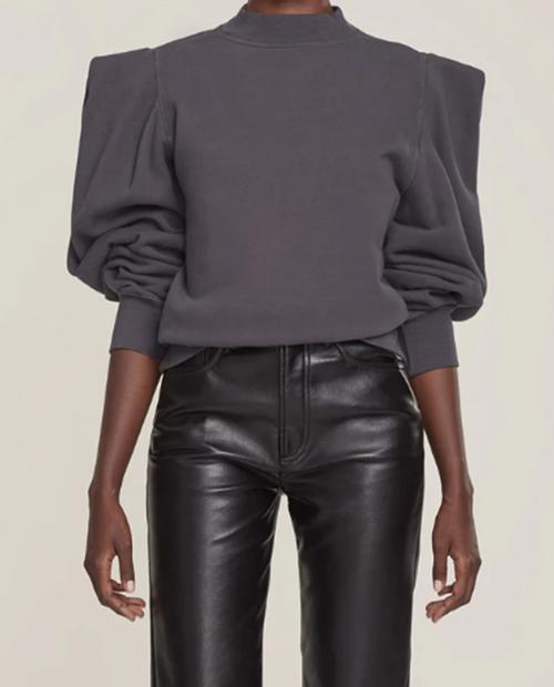 A Gold E Womens Folded Slv Sweatshirt