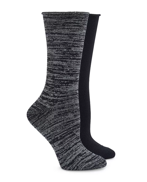 Hue Womens SuperSoft Roll top Boot Sock 2 Pack
