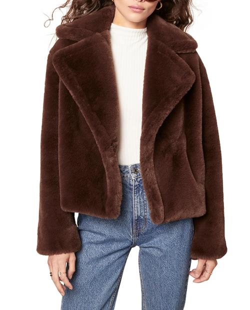 BB Dakota - Big Time Plush Jacket - DARK ESPRESSO
