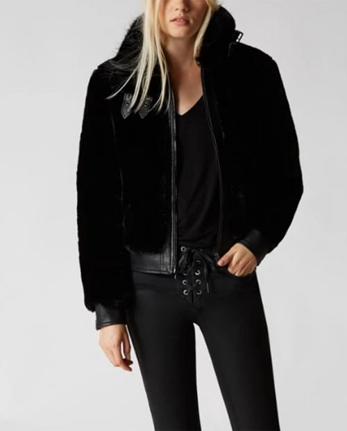 Blank NYC Womens Jacket Black Noise