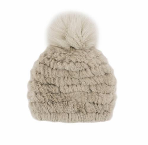 Mitchies Womens Knitted Rabbit Beanie
