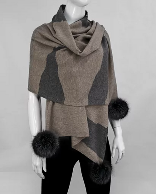 Mitchies Womens Knitted Camoflage Scarf