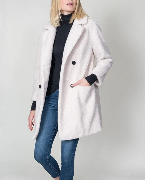 Dylan Womens Boucle Pile Classic Coat