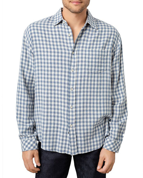 Mens Brushed Lennox Button Up  Washed