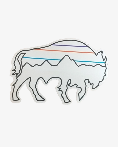 Back to Good Bison Sticker
