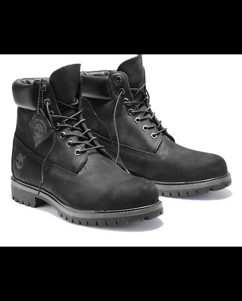 TIMBERLAND Mens 6in Premium Boot in BLACK NUBUCK