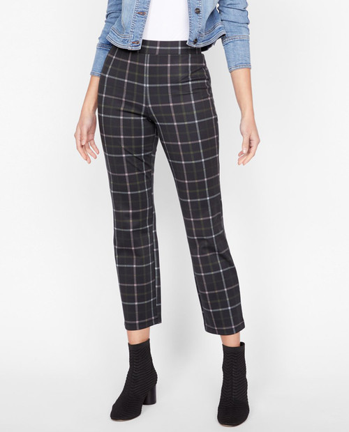 Sanctuary Womens Carnaby Kick Crop in Redwood Plaid