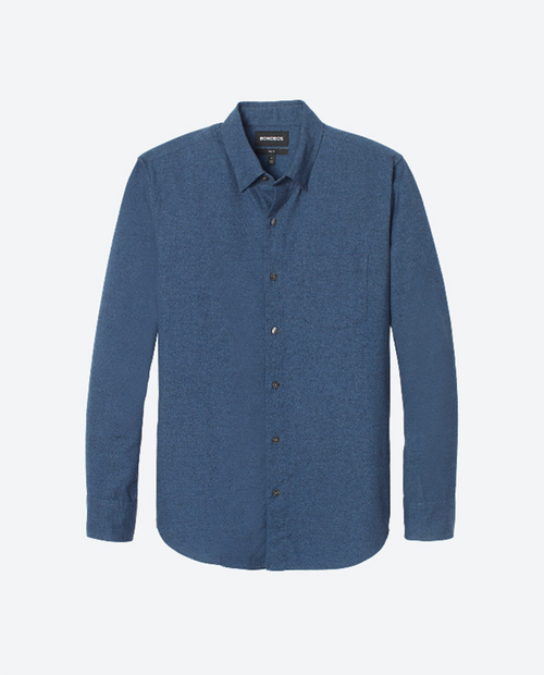 Mens Button Down  Slim in Dark Blue