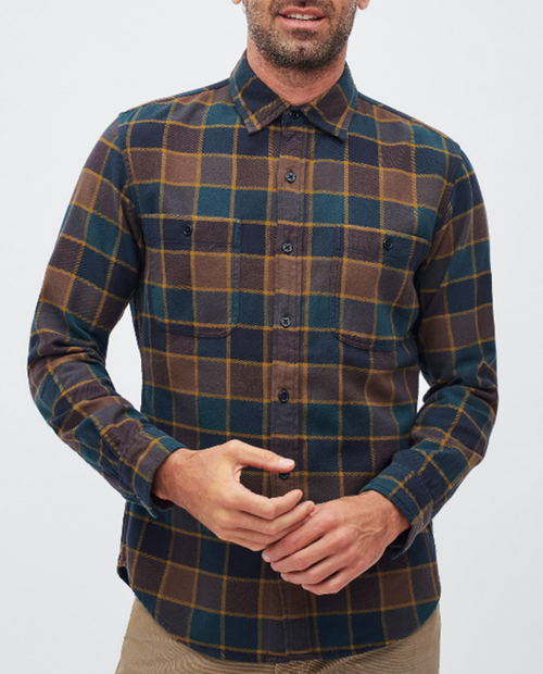 Mens Flannel BD Slim