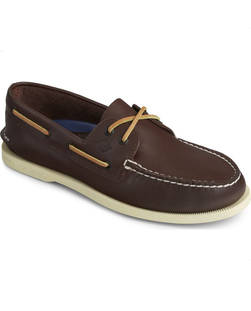 Mens AO 2-Eye Boat Shoe Classic Brown