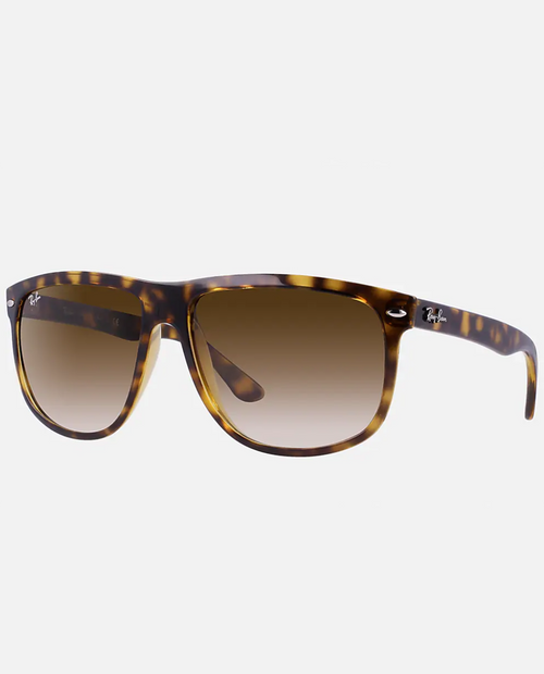 Boyfriend with Light Havana Frame and Clear Gradient Brown