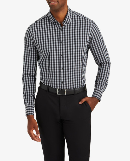 Mens Leeward - Black Grey Gingham