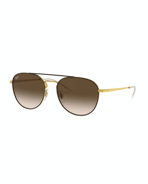 RAY BAN Aviator Brown Gradient