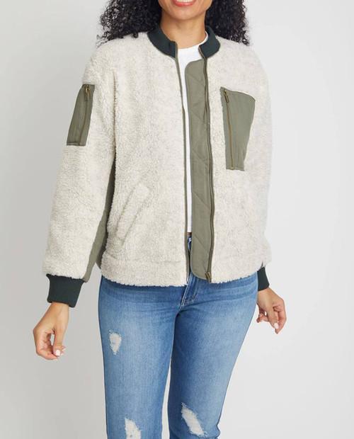 Women's Colorblock Sherling Jacket