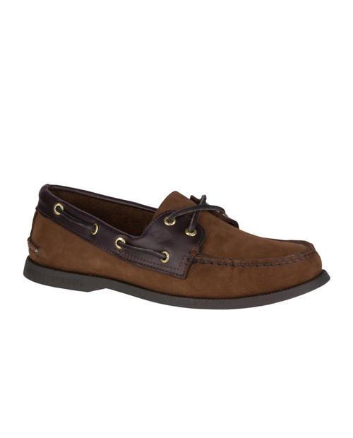 Mens AO 2-Eye Boat Shoe Brown