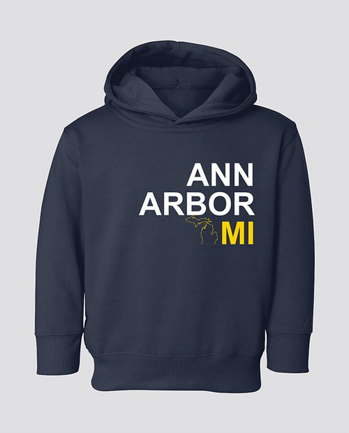 A2 To Wear MI Map Toddler Hoodie