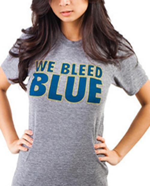 Womens We Bleed Blue Tee