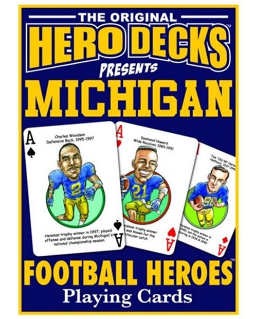 Michigan Football Heros Card Deck