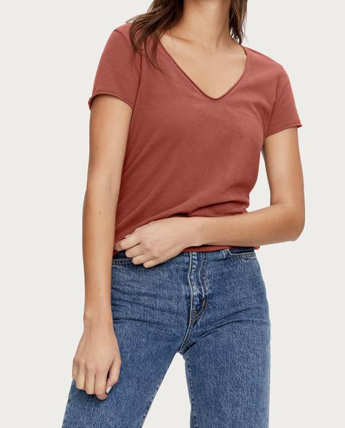 MICHAEL STARS Jade Short Sleeve Soft V Neck 11199