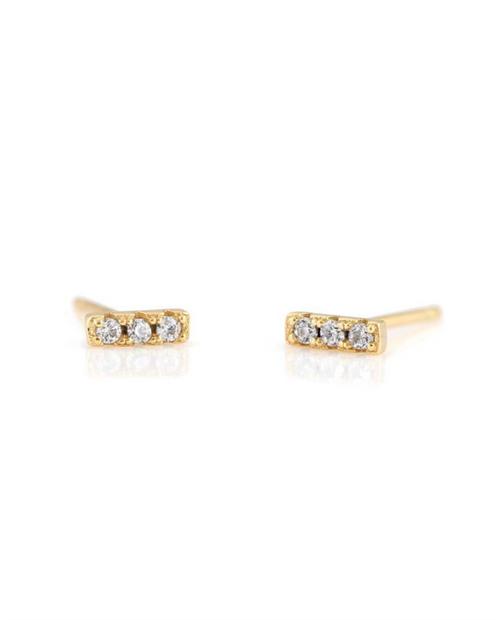 Dash Pave Stud Earrings