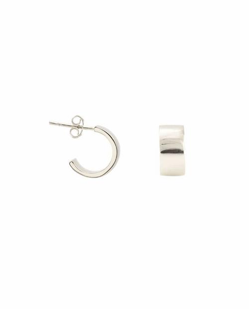 Wide Huggie Hoop Earrings