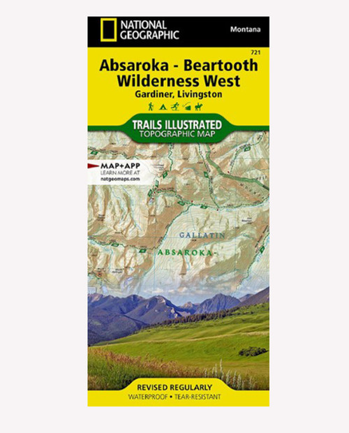 NATIONAL GEO MAPS Absaroka-Beartooth West #721