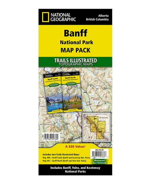 Banff National Park Map Pack Bundle