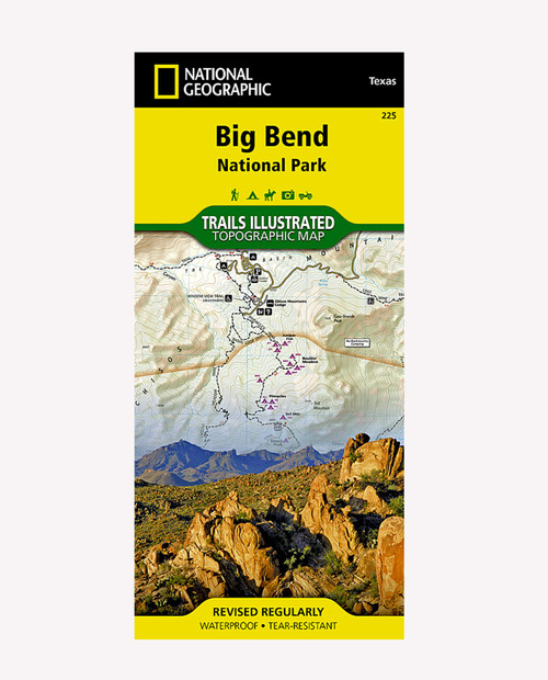 NATIONAL GEOGRAPHIC MAPS TI Big Bend National Park TX