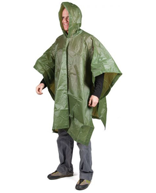Vinyl Poncho Military Green