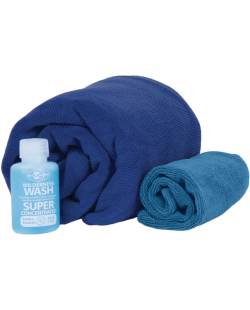 SEA TO SUMMIT Tek Towel Wash Kit - XL - Cobalt/Pacific