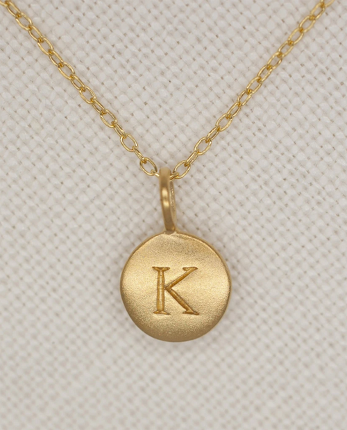 16in Gold Initial Necklace