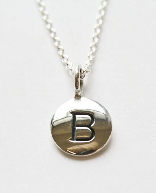 18in Silver Initial Necklace