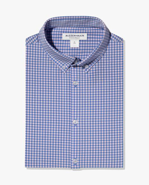 MIZZEN AND MAIN Leeward - Pink Blue Mini Check