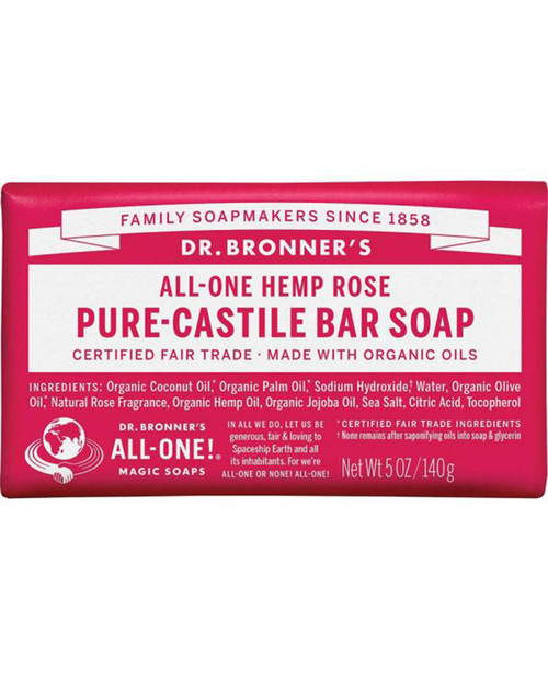 Dr. Bronners Rose Bar Soap
