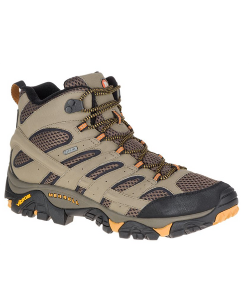 MERRELL Mens Moab 2 Mid GTX Wide Walnut