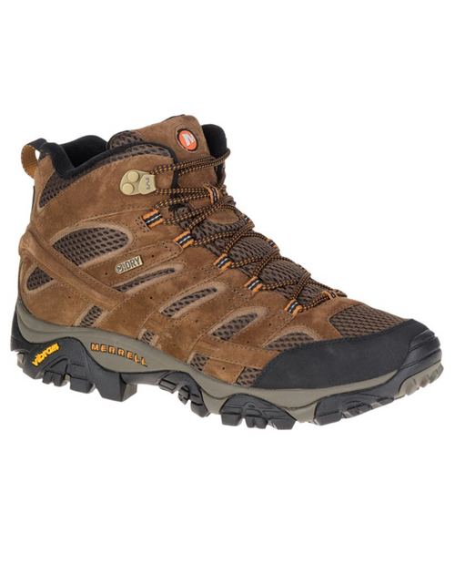 Merrell Mens Moab 2 Mid Waterproof Wide