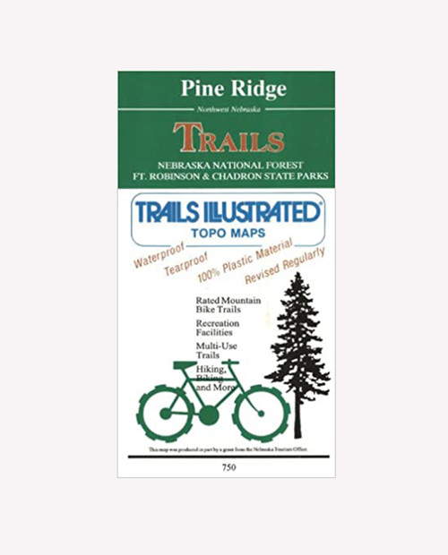 NATIONAL GEO MAPS Pine Ridge Nebraska Bike Trail