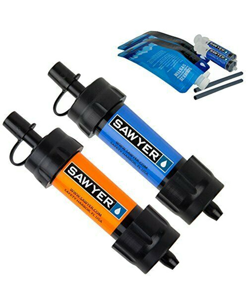 Mini Water Filtration System Blue/Orange Twin Pack